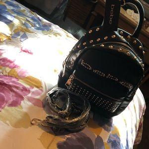 Bebe mini Jett black backpack